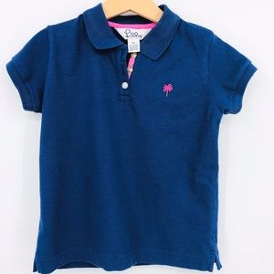 Lily Pulitzer polo shirt youth size 6x navy pink
